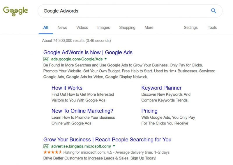 Google Advert